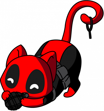 Принт Кепка Cat with a grenade, Фото № 1 - FatLine