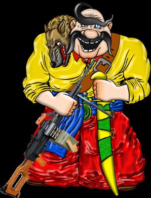 Принт Жіноча футболка Козак зі зброєю, Фото № 1 - FatLine