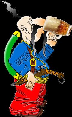 Принт Жіноча футболка Козак п'є пиво, Фото № 1 - FatLine
