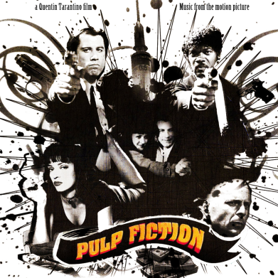 Принт Футболка Поло Pulp Fiction Vintage - FatLine