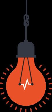 Принт Женская футболка Light bulb vector, Фото № 1 - FatLine