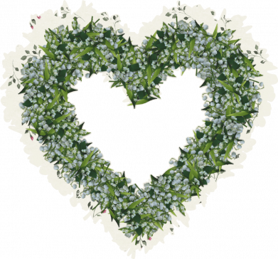 Принт Кепка Lilies of the valley in the shape of a heart, Фото № 1 - FatLine