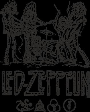 Принт Кружка эмалированная Led-Zeppelin Art, Фото № 1 - FatLine