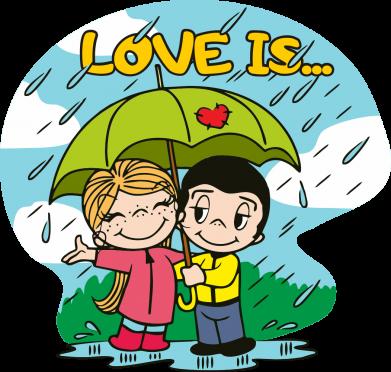 Принт Кепка Love is ... in the rain, Фото № 1 - FatLine
