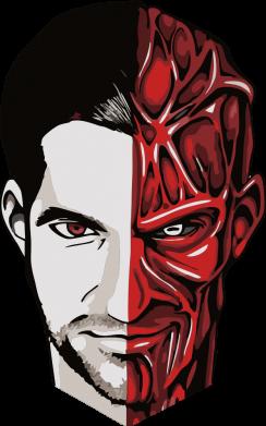 Принт Кепка Lucifer the man and the devil, Фото № 1 - FatLine