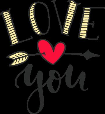 Принт Жіноча футболка I love you and heart, Фото № 1 - FatLine