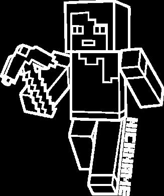 Принт Женская футболка Minecraft and hero nickname, Фото № 1 - FatLine
