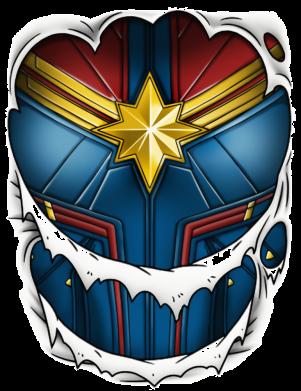 Принт Жіноча футболка Captain Marvel's Costume, Фото № 1 - FatLine