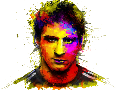 Принт Фартук Messi Art - FatLine