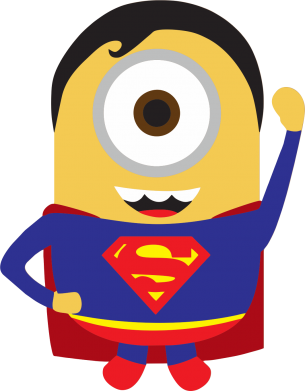 Принт Фартук Minion Superman - FatLine