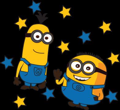 Принт Жіноча футболка Minions and stars, Фото № 1 - FatLine