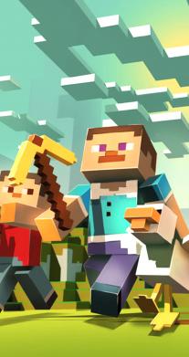 Принт Футболка детская белая (XS) Minecraft 3D - FatLine
