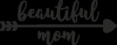 Принт Жіноча футболка Beautiful mom, Фото № 1 - FatLine