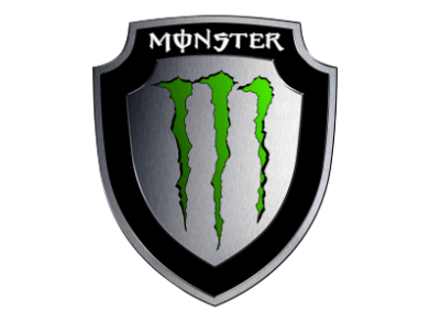Принт Майка-тельняшка Monster Energy шеврон - FatLine