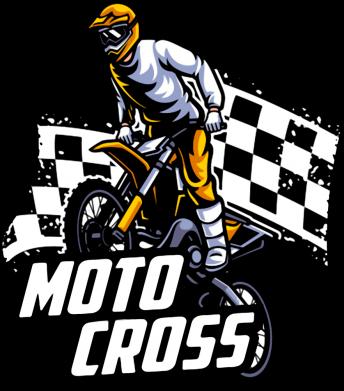 Принт Мужская толстовка Motocross, Фото № 1 - FatLine
