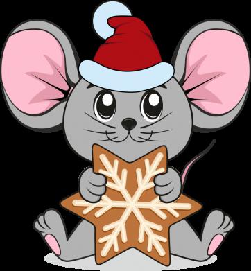 Принт Женская футболка Mouse with cookies, Фото № 1 - FatLine