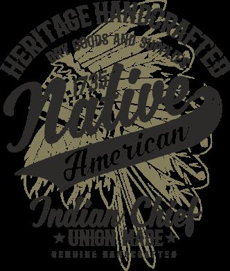 Принт Жіноча футболка Native American, Фото № 1 - FatLine