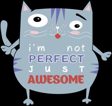 Принт Мужская толстовка Cute cat and text, Фото № 1 - FatLine