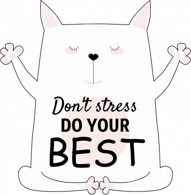 Принт Кружка 320ml Don't Stress Be Youself, Фото № 1 - FatLine