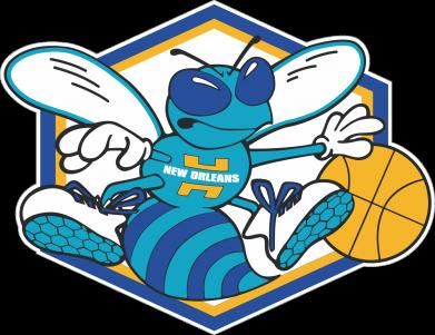 Принт Женская футболка с V-образным вырезом New Orleans Hornets Logo - FatLine