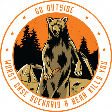 Принт Чоловіча футболка Go outside worst case scenario a bear kills you, Фото № 1 - FatLine