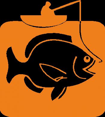 Принт Женская футболка с V-образным вырезом Рыба на крючке - FatLine
