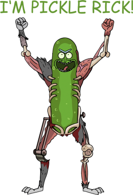 Принт Жіноча футболка Pickle Rick, Фото № 1 - FatLine
