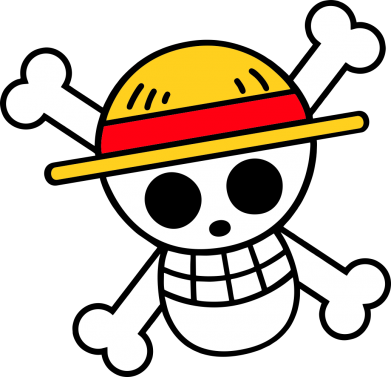 Принт Жіноча футболка Anime logo One Piece skull pirate, Фото № 1 - FatLine