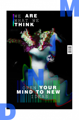 Принт Женская футболка Open your mind to new ideas, Фото № 1 - FatLine