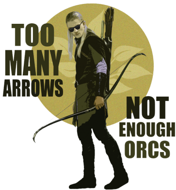 Принт Реглан Too many arrows, not enought orcs - FatLine