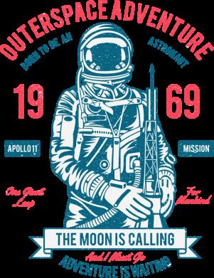 Принт Жіноча футболка Outerspace Adventure 69, Фото № 1 - FatLine