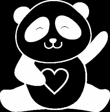 Принт Жіноча футболка Panda and heart, Фото № 1 - FatLine
