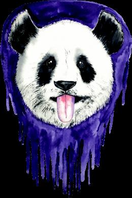Принт Женская футболка Panda on a watercolor stain, Фото № 1 - FatLine