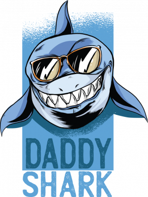Принт Жіноча футболка Daddy shark, Фото № 1 - FatLine