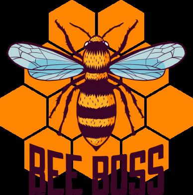 Принт Женская футболка Bee Boss, Фото № 1 - FatLine