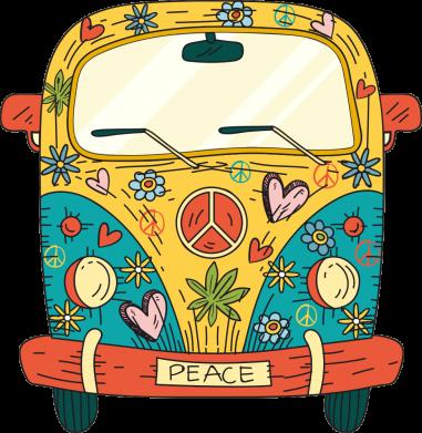 Принт Жіноча футболка Hippie bus, Фото № 1 - FatLine