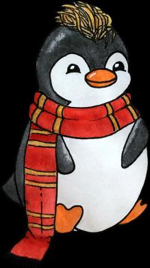 Принт Жіноча футболка Baby penguin with a scarf, Фото № 1 - FatLine