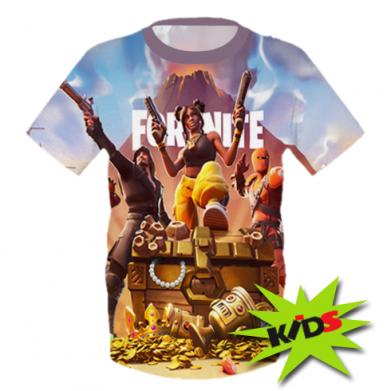 Принт Детская 3D футболка Fortnite season 8 - FatLine