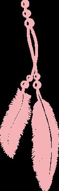 Принт Женская майка Перо - FatLine