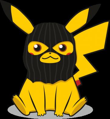 Принт Жіноча футболка Pikachu in balaclava, Фото № 1 - FatLine