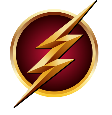 Принт Футболка Поло Flash Logo Art - FatLine