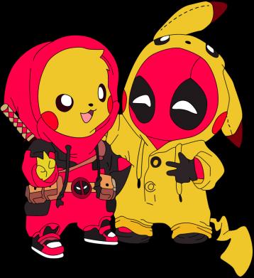 Принт Кепка Pikachu and deadpool, Фото № 1 - FatLine