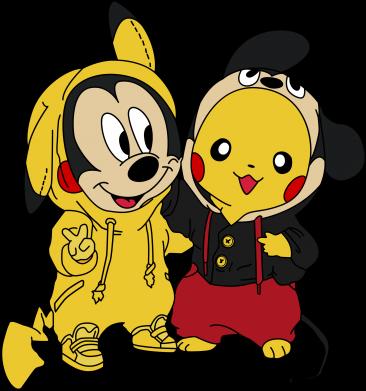 Принт Кепка Пикачу и Микки Маус, Фото № 1 - FatLine
