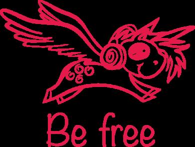 Принт Жіноча футболка Be free unicorn, Фото № 1 - FatLine