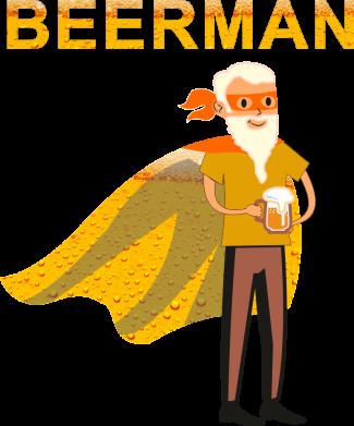 Принт Жіноча футболка BEERMAN, Фото № 1 - FatLine