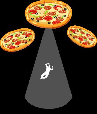 Принт Жіноча футболка Pizza UFO, Фото № 1 - FatLine