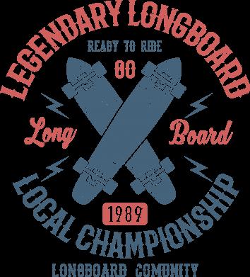 Принт Жіноча футболка Legendary Longboard, Фото № 1 - FatLine