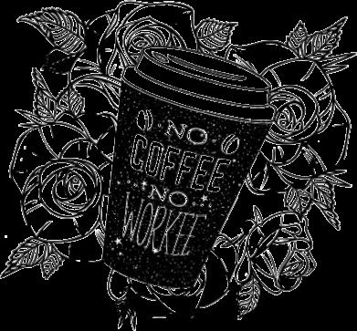 Принт Жіноча футболка Нема кави - нема роботи, Фото № 1 - FatLine
