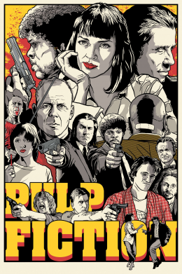 Принт Фартук Pulp Fiction poster - FatLine