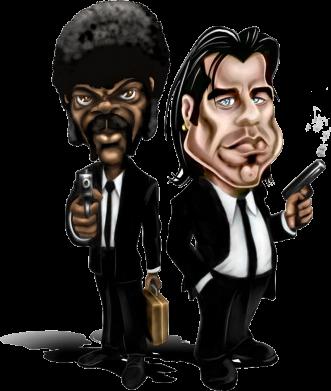 Принт Кружка эмалированная Travolta & L Jackson, Фото № 1 - FatLine